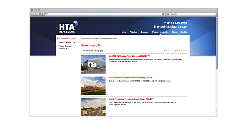 HTA Real Estate. Website