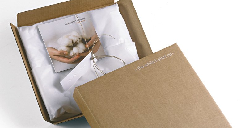 The White T Shirt Company. Garment Packaging