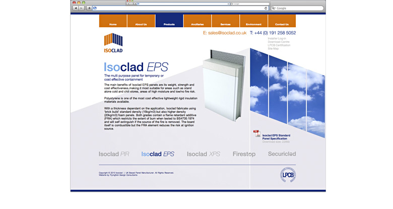 Isoclad. Corporate Website